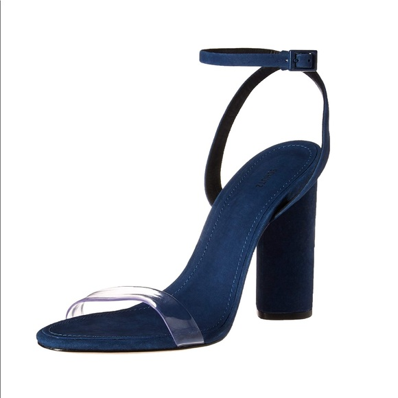 SCHUTZ scarpe   New Block Heel Poshmark Sandalo Navy Size 8   Poshmark Heel 63f5b8
